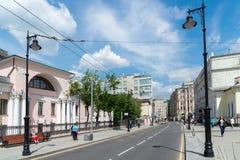 莫斯科,俄罗斯- 6月02 2016年 Lobanov-Rostovsky前庄园是在Myasnitskaya街上的建筑纪念碑 免版税图库摄影