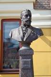 莫斯科,俄罗斯- 6月06 2016年 Shekhtel的纪念碑,建立雅罗斯拉夫尔市驻地的建筑师 免版税库存图片