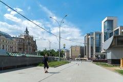 莫斯科,俄罗斯- 6月02 2016年 Turgenev广场全视图在夏天 免版税图库摄影