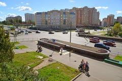 莫斯科,俄罗斯- 9月01 2016年 Zelenograd有法院大楼看法  库存图片
