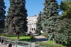 莫斯科,俄罗斯- 21 09 2015年 艺术普希金博物馆  免版税库存照片