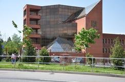 莫斯科,俄罗斯05 28 2015 - 莫斯科工业银行在Zelenograd 免版税库存照片