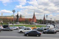 莫斯科,俄罗斯-, 13 2017年:在有Prin的纪念碑的克里姆林宫 库存照片