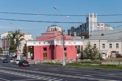 莫斯科,俄罗斯- 09 21 2015年 Arbat Filevskaya线的地铁车站 库存图片