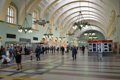 莫斯科,俄罗斯- 17 06 2015年 Kazansky火车站内部  在1862年修造 图库摄影