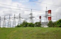 莫斯科,俄罗斯- 31 06 2015年 Mosenergo Energy Company,是由俄罗斯天然气工业股份公司控制的 CHP 26 库存图片