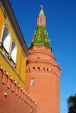 莫斯科,克里姆林宫墙壁的片段 库存图片