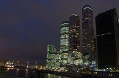 莫斯科,商业中心莫斯科城市 库存照片