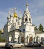 莫斯科,圣尼古拉教会 免版税库存照片