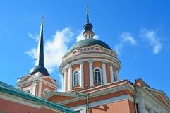 莫斯科,圣约翰教会在榆木1825-1837,新的正方形, 10下的神学家 片段 免版税库存照片