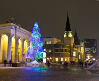 莫斯科,圣诞树 库存照片