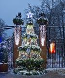 莫斯科,圣诞树 免版税库存图片