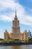 莫斯科,斯大林摩天大楼 免版税库存照片