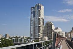 莫斯科,现代摩天大楼 图库摄影