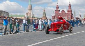 莫斯科, GAZ GL-1, 1940年,第一辆苏联跑车 免版税库存照片