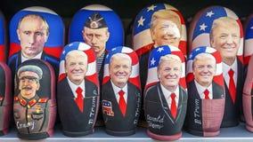 莫斯科, RUSSIA-JANUARY 17日2017年:俄国传统玩具- Matry 免版税库存图片