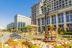莫斯科, RUSSIA-SEPTEMBER 24日2017年:在的金黄秋天节日 免版税库存照片