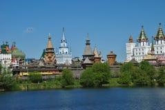 莫斯科, vernisage在Izmaylovo 库存图片