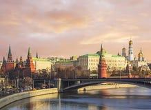 莫斯科 2005个下午区克里姆林宫红色夏天 盛大克里姆林宫宫殿 免版税库存照片