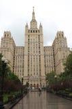 莫斯科 住宅斯大林主义, Kudrinskaya广场的摩天大楼 免版税库存图片