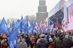 莫斯科 俄国 02/03/2018 在墙壁附近的Vasilievsky下降 免版税库存照片