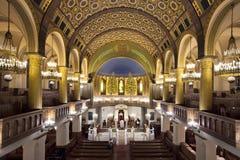 莫斯科/俄罗斯- 2018年10月25日:莫斯科合唱犹太教堂,wor 免版税图库摄影