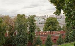 莫斯科 克里姆林宫的看法从索非亚码头的 库存图片
