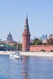 莫斯科 克里姆林宫 市政的横向 库存图片