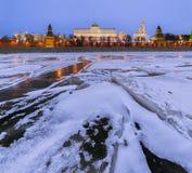 莫斯科 克里姆林宫 盛大克里姆林宫宫殿在冬天 免版税库存照片