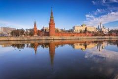 莫斯科 克里姆林宫 Vodovzvodnaya塔 图库摄影