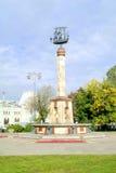 莫斯科 喷泉在Rizhsky railw区域的一个公园里  免版税图库摄影