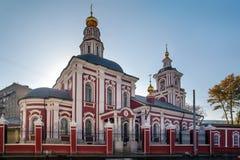 莫斯科 圣亚历克西斯,莫斯科的城市居民教会  免版税库存图片