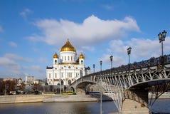 莫斯科 圣洁基督的寺庙 免版税库存照片