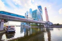 莫斯科-城市商业中心 免版税库存照片