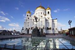 莫斯科 大教堂基督・莫斯科俄国救主 库存图片
