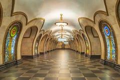 莫斯科- 04威严2018年:内部地铁 库存图片