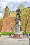 莫斯科 对皇帝亚历山大一世的纪念碑 库存图片