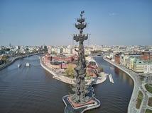 莫斯科-2019年5月:对皇帝彼得大帝首先彼得的纪念碑,建筑师祖拉布采列捷利 ?? r 免版税库存图片
