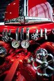 莫斯科- 2018年3月09日:福特798T 1947在陈列的消防车 免版税库存图片