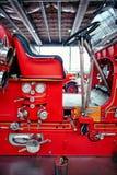 莫斯科- 2018年3月09日:Seagrave塑造6WT 1927消防车在e 免版税库存照片