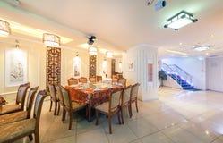 莫斯科- 2014年8月:中国烹调餐馆内部  库存图片