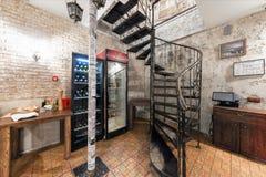 莫斯科- 2014年8月:内部意大利比萨店 库存图片