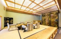 莫斯科- 2014年8月:日本餐馆的内部 免版税库存照片