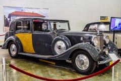莫斯科- 2016年8月:罗斯劳艾氏幽灵III 1937提出了在2016年8月20日的MIAS莫斯科国际汽车沙龙在Mosc 免版税库存图片