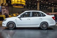 莫斯科- 2016年8月:VAZ 2190 LADA Granta体育被提出在2016年8月20日的MIAS莫斯科国际汽车沙龙在莫斯科 免版税图库摄影