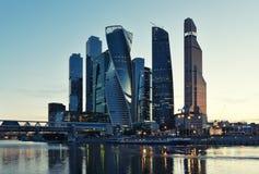 莫斯科-2016年8月04日:莫斯科国际商业中心 免版税库存照片