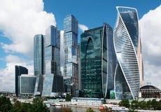 莫斯科-2016年8月04日:莫斯科城市 莫斯科国际性组织Busi 免版税库存照片