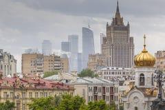 莫斯科- 2016年6月04日:莫斯科城市(莫斯科国际性组织Busine 库存照片