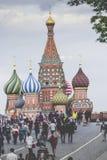 莫斯科- 6月02 :圣徒红色Squa的蓬蒿大教堂看法  库存照片