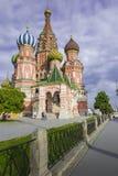 莫斯科- 6月02 :圣徒红色Squa的蓬蒿大教堂看法  库存图片